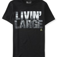 Aeropostale  Mens Livin' Large Graphic T-Shirt - Black