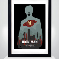 Iron man, the Iron man as Tony Stark movie Poster, Print, A3