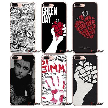 PHONE CASE GREEN DAY Punk Rock Bank Soft Case Apple iPhone 4 4S 5 5S SE 5C 6 6S 6Plus 7 7Plus, 8 Plus X
