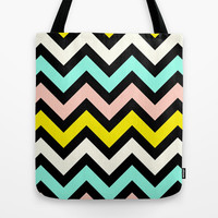 Chevron Sunny Day Tote Bag by M Studio