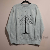 White Tree of Gondor Shirt Sweatshirt Sweater Unisex - size S M L XL