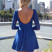 THE LUCKY ONE DRESS , DRESSES, TOPS, BOTTOMS, JACKETS & JUMPERS, ACCESSORIES, SALE, PRE ORDER, NEW ARRIVALS, PLAYSUIT, COLOUR,,Blue,LACE Australia, Queensland, Brisbane