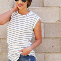 Stripe It Forward Tunic