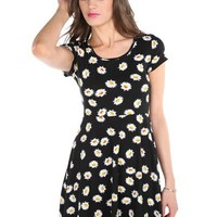 Bow Back Daisy Skater Dress