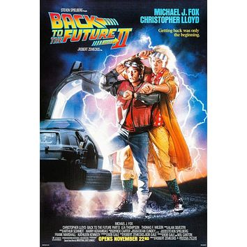 Vintage Back to the Future 2 Movie Poster// Classic Movie Poster//Movie Poster//Poster Reprint//Home Decor//Wall Decor//Vintage Art