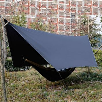 High Quality Camping Tent Ultra-Light Plaid Cloth Hammock Rain Fly Outdoor Canopy Waterproof Anti-UV Sun Protection Tarp Shelter