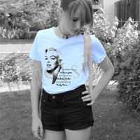 """Marilyn Monroe """"Imperfection is Beauty"""" T-Shirt"""