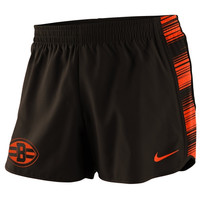 Cleveland Browns Nike Women's Warpspeed Pacer Performance Shorts - Brown