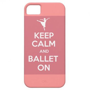 Keep calm and ballet on iPhone case iPhone 5 Covers from Zazzle.com