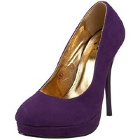 Miss Me Women's Avaline-5 Platform Pump,Purple,6.5 M US
