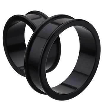 Supersize Flexible Silicone Double Flared Ear Gauge Tunnel Plug