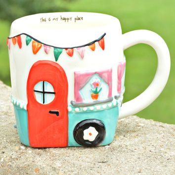 Natural Life Folk Mug - Camper Happy Place