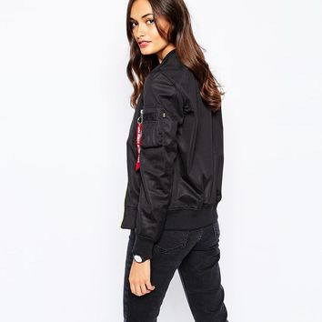 Alpha Industries | Alpha Industries Ma1 Soft Shell Bomber Jacket at ASOS