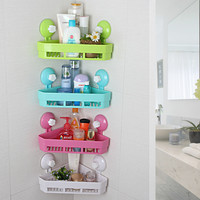 Bathroom Kitchen Storage Holder Kitchen Washroom Corner Rack Wall Mounted Bathroom Shelves
