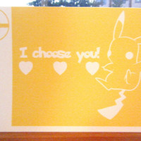 Pokemon Pikachu Video Game Love Card
