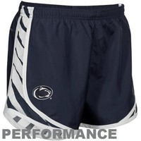 Nike Penn State Nittany Lions Ladies Navy Blue Striped Tempo Performance Shorts