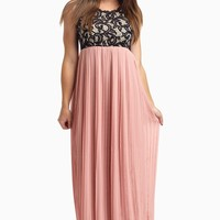 Dusty-Pink-Pleated-Chiffon-Lace-Top-Maxi-Dress