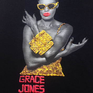 GRACE JONES Shirt T-shirt Leopard Painting 3d for MAN