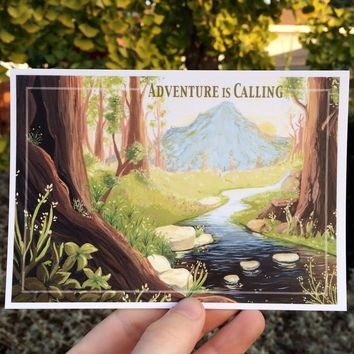 ADVENTURE IS CALLING NOTECARD
