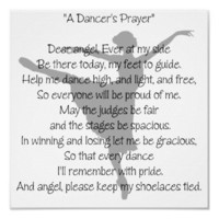 A Dancer's Prayer Dance Poster from Zazzle.com