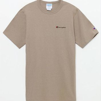 ESBONDI5 Champion Small Script Applique T-Shirt