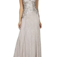 BCBG Julea Sleeveless Sequined Gown