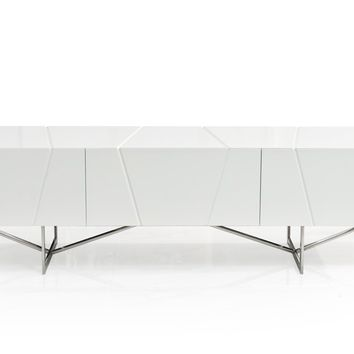 Modrest Chrysler Modern White TV Stand