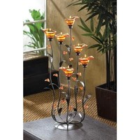 Amber Calla Lilly Tealight Candle Holder