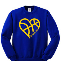 Heart Golden State Warriors Sweatshirt Sports Clothing