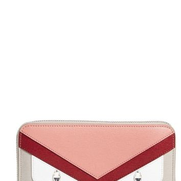 Fendi 'Monster' Leather Zip Around Wallet | Nordstrom
