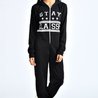 Sabina 'Stay Classy' Hooded Onesuit