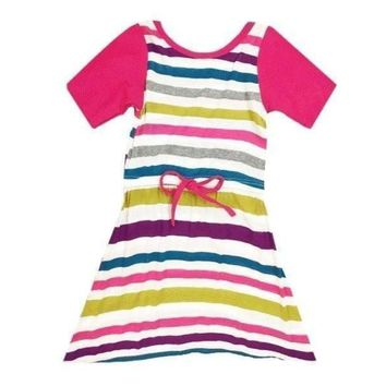 Sweet as Sugar Couture Bright Striped Sadie Knit Dress
