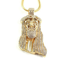 Jesus Iced Out Pendant and Neckalce