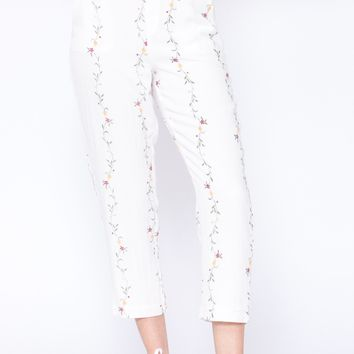 Alanna High Waist Floral Pants