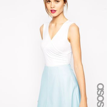 ASOS TALL Exclusive Sleeveless Wrap Front Body