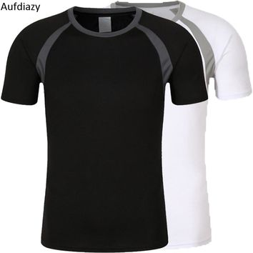 Aufdiazy Unisex Summer Breathable Quick Dry Camping Hiking T-Shirt O-Neck Men Women Outdoor Sports Tops Trekking T Shirt JM099