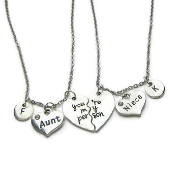2 Aunt And Niece Necklaces, You're My Person Necklaces, Aunt Niece Necklaces, You re My Person Aunt Niece Necklaces ,Personalized