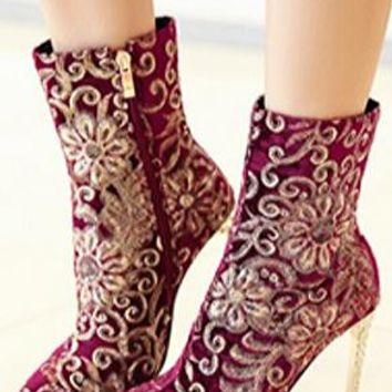 SENNA - SEQUIN TAPESTRY BOOTS