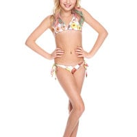 Girls Donuts Triangle Tie Side Bikini