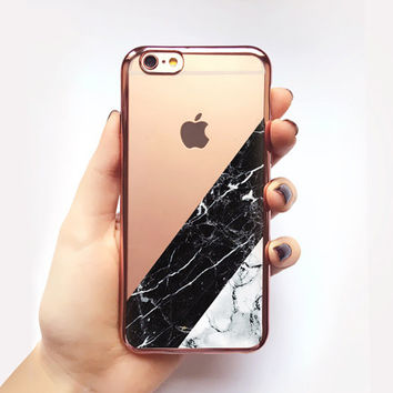 Transparent Marble iPhone Case - Transparent Case - Clear Case - Transparent iPhone 6 - Transparent iPhone 6S - Gel Case - Soft TPU