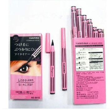 New Waterproof Liquid Eye Liner Cosmetic Eyeliner Pencil Make Up Black Casing Instant Black Quickly Dry pen = 1668752580