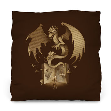 Mysterious Game of the Throne Outdoor Throw Pillow