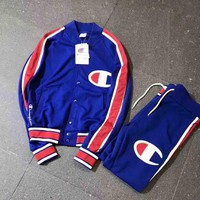 Champion Buckle Cardigan Sweatshirt Jacket Coat Windbreaker Sportswear Pants Suit I-A-XYCL Tagre™