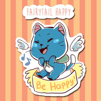 Cute Fairy Tail Happy digital sticker