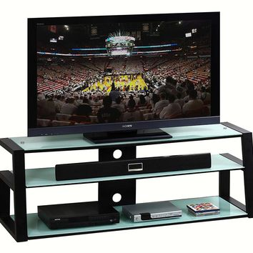 "Techni Mobili Tempered Frosted Glass 65"" TV Stand"