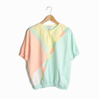 Vintage 80s Pastel Mint Beach Club Top - women's medium