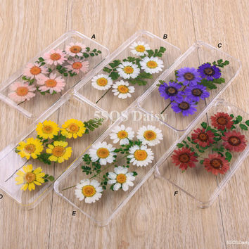 Pressed Flower Daisy flower iPhone 5 case, iPhone 4 case, iPhone 4s case, iPhone 5s case, iPhone 5c case, Galaxy S4 S5 Note 3 Note 2 - 01001
