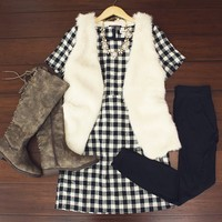 Flannel Obsessed Dress $38.00