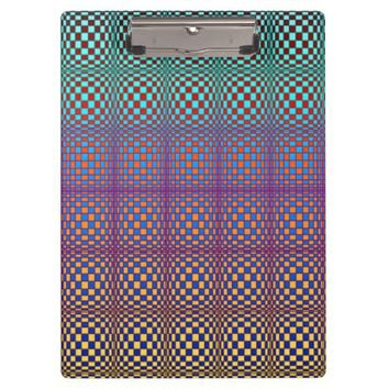 Abstract Squares 3 Clipboard