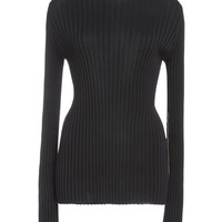 Polo Neck Top With Sleeve Gathers | Moda Operandi